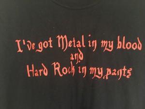 US ビンテージ metal&hardrock メタル ハードロック メッセージTシャツ / バンド 80s 90s OLD