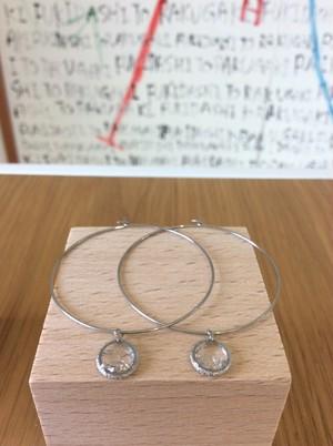 silver hoop pierce - ryukyuglass accessory-