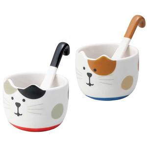 【concombre】しっぽスプーン付きデザートカップ【猫 カップ】