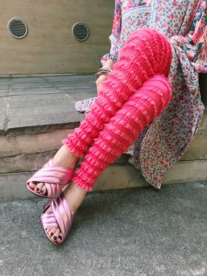 Pink Lace Frilly pants ( ピンク レース ドロワーズ パンツ )