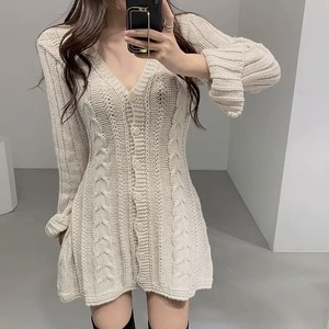 lib knit dress 3color