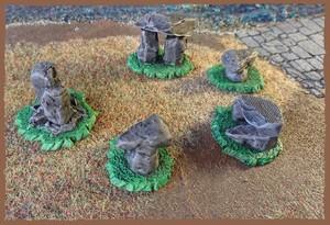 石の庭園セット