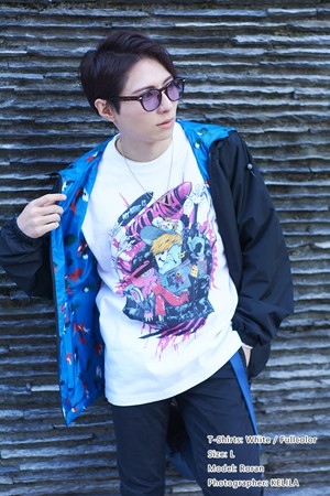 [White / Fullcolor] Collaborative T-shirt by Kazutaka Kodaka (Tookyo Games) and jbstyle.