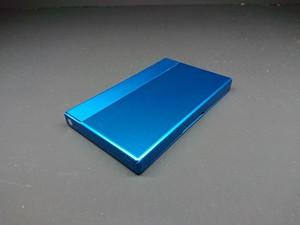 アルミニウム製名刺カードケース ブルー色