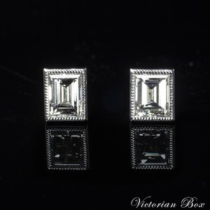 Step-cut Diamond Stud Earrings