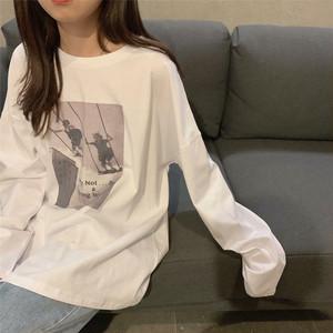 【送料無料】メンズライク♡プリント♡ロングTシャツ♡