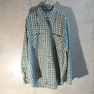 70s Cotton Check Shirt