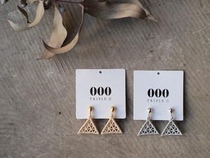 【000 トリプル・オゥ】Lattice triangleイヤリング[ER012]