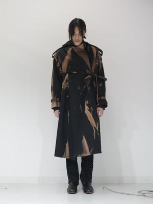 【 KEISUKEYOSHIDA 】belted trench coat ( bleach )