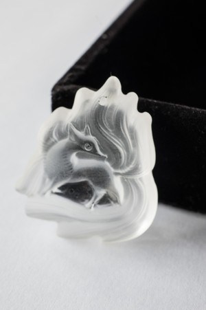Carving Quartz Pendant  Ninetails Fox