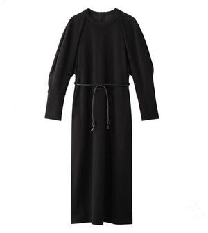 【AKIRANAKA 】Jimena ジャージードレス BLACK  AW-2146-BK