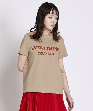 ロゴTシャツ(ベージュ)