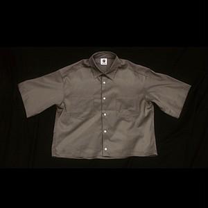 『GEN  IZAWA』ショートオーバードレスシャツ(カーキ)