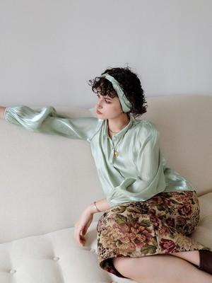 flower jacquard skirt(bordeaux)