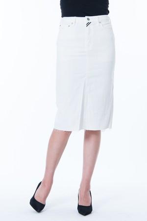 ホワイト タイト スカート
