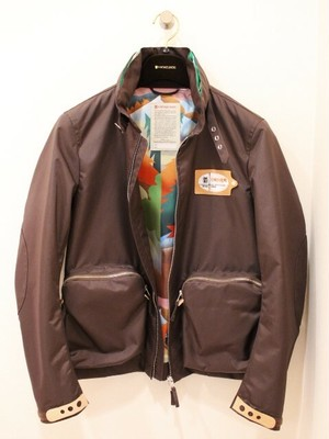 VINTAGELOVERS Hood In Blouson Brown