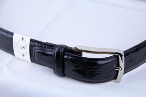 Giorgio Zoni Crocodile Leather Belt -Black ジョルジオ・ゾーニ レザーベルト