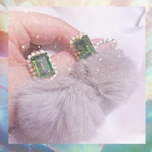 Bijou fur pierce♡Crystal Green