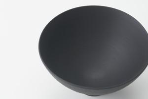 黒呉須飛び鉋 丸高台飯碗(大)