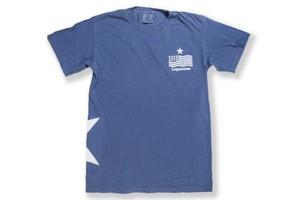 【vintage STAR logo T-shirt】/ wash navy