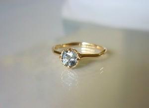 天然サファイアのK14の指輪