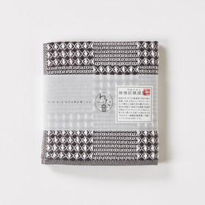 わた音ハンカチーフ/ブロックワッフル織り/墨色1-65612-86-DGY