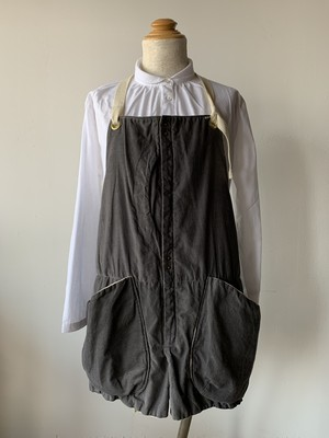 suolo GRIZZLY APRON コーデュロイ グレー