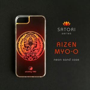 愛染明王 ネオンサンドケース[iPhone]〈仏像スマホケース〉