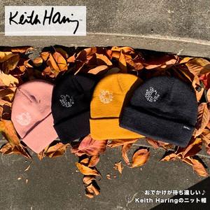 Keith Haring(キース・ヘリング) ワンポイント ニットキャップ★【CAP/帽子】【宅配便のみ】