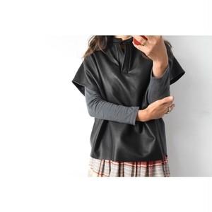 Simva108-0001 Leather Tunic