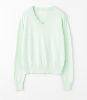 V-NECK PULLOVER (COTTON CASHMERE)