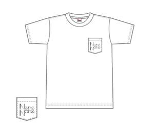 NeneNoneロゴ ポケット付Tシャツ(ホワイト)