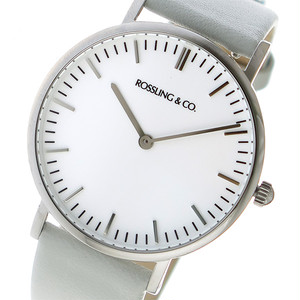 ROSSLING ロスリング CLASSIC 36MM light gray クオーツ ユニセックス 腕時計 RO-005-013 ライトグレー/ホワイト ホワイト