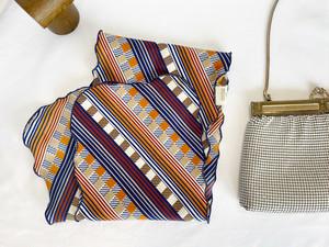 Vintage scarf <navy-geometric>
