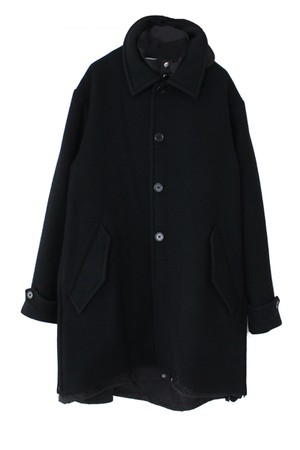 WL Tasmaniawool Layered coat(WHITE LINE)