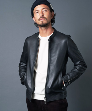 SHEEP LEATHER SINGLE RIDERS JACKET