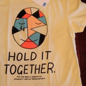 "2K BY GINGHAM |【超特価SALE!!!】"" HOLD IT TOGETHER "" Tee - ECRU"
