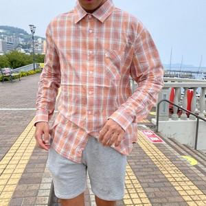 Cotton check shirts Red
