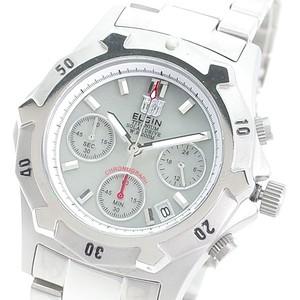 エルジン ELGIN 腕時計 メンズ FK1425TI-BR クォーツ ライトグレー シルバー