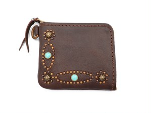 L ZIP  STUDS WALLET (INFINITE ELLIPSE)