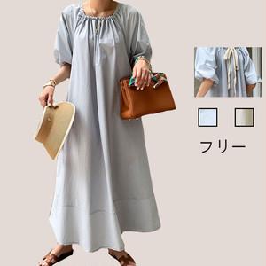 【ワンピース】おしゃれ度高め ファッションパフスリーブカジュアルワンピース48070200
