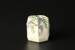 ミニ花生(藤) 清水焼
