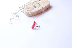 336伝統文化品美濃焼多治見四角タイル指輪・リング(フリーサイズ)