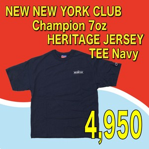 NEW NEW YORK CLUB / Champion 7oz HERITAGE JERSEY TEE  Navy