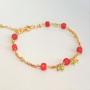 【heartwarming bracelet】 Carnelian(カーネリアン)