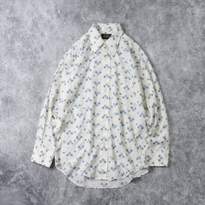 """1970s   USA   """" JCPenney """"   L/S  Shirts   M A433"""