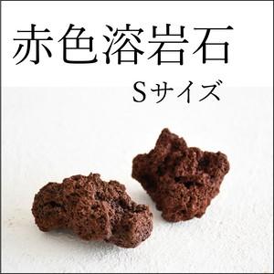 赤色溶岩石 Sサイズ(5cm前後) 2個入り【レイアウト用・着生用】