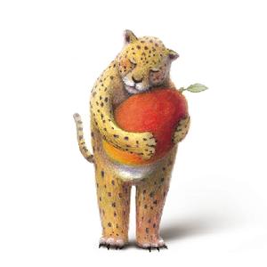 マンゴーとスリランカヒョウ mini print