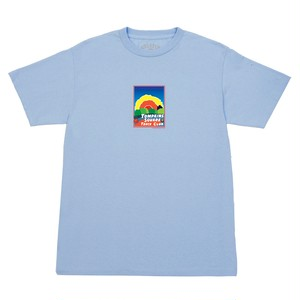 QUARTERSNACKS / TRACK CLUB POSTCARD TEE -POWDER BLUE-