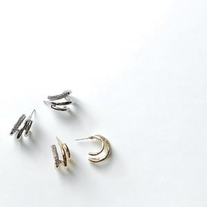 P1122 -  3 in 1 Metal Zircon Hoop
